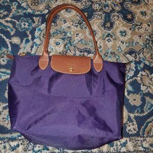 Small Purple Longchamp Le Pilage Shopper